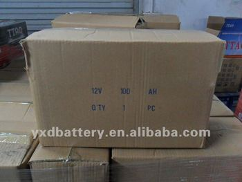 lead acid start dry rechargeable car battery factory