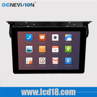36V bus seat 22 inch digital advertising display device for taxi bus coach android system 3G led vedio media tv LCD touch screen