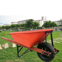 200kg load Wheelbarrow with wood handle and metal tray