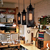 American style industrial loft pendant light wrought iron chandelier lighting