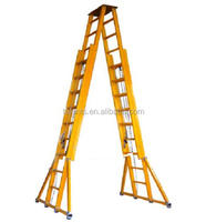 double standing extension ladders,A type ladder with diagonal ligament and stay cord