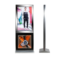 42 Inch Internet TFT CF Card Floor Standing Human Induction Advertising Panel