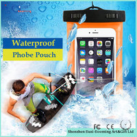 2016 Popular Promotional PVC Mobile Phone Bag Waterproof Pouch For Swimming for iphone 5s /5c