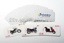 motorbike playing game cards for promotion and advertising
