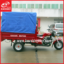 Three wheel motorcycle with simple front windsheild & canvas