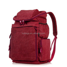 Big Containable Suede Backpack With Many Pockets