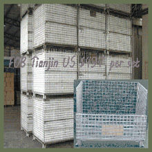 Hot-dip galvanized mesh 50*50mm metal pallet cages