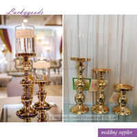 LG20180511-18 new arrival fashion metal candlestick wedding party gold candleholders