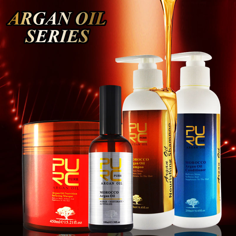 Shampoo and conditioner OEM/ Private label ethnic hair care products hot sale hair argan oil series hair care mask
