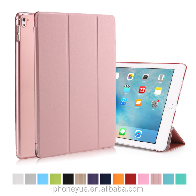 Luxury Ultra-Slim Matte Back 4 Foldable Silk Flip PU Leather Case for iPad 1/2/3