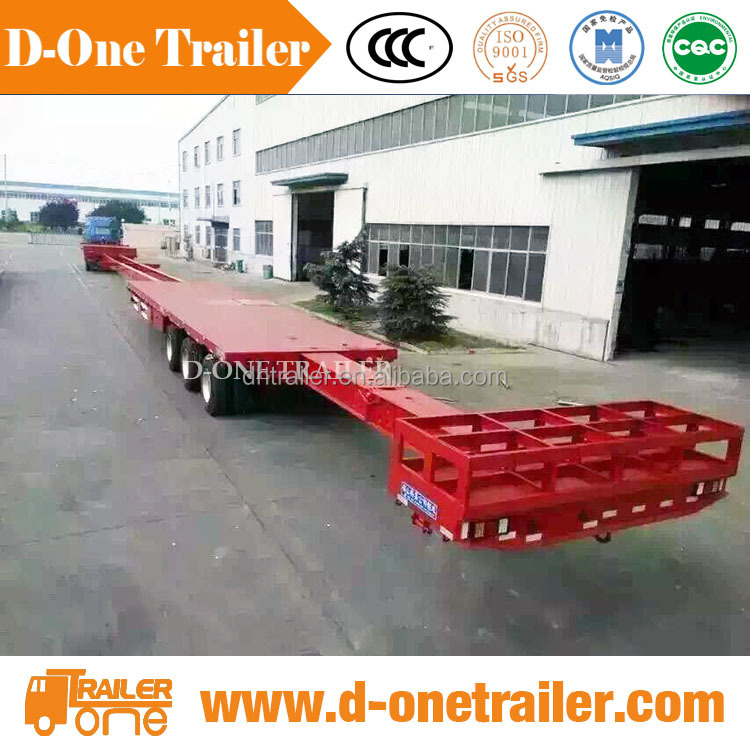 40 - 60 tons telescopic extendable blade trailer for windmill blade transport