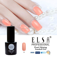 ELSA new color private label shell gel polish in uv gel for nail supplies