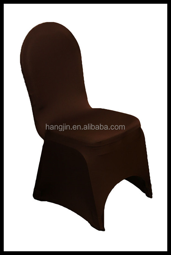 spandex elastic polyester black stretch chair cover with front arch for every events