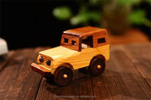 wooden model car jeep shaped wooden cars