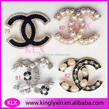 2017 New Arrival !CC Rhinestone brooches for Garment decoration