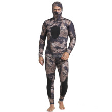 1.5/2/3/5mm neoprene scuba diving long john camouflage spearfishing wetsuit with hooded jacket