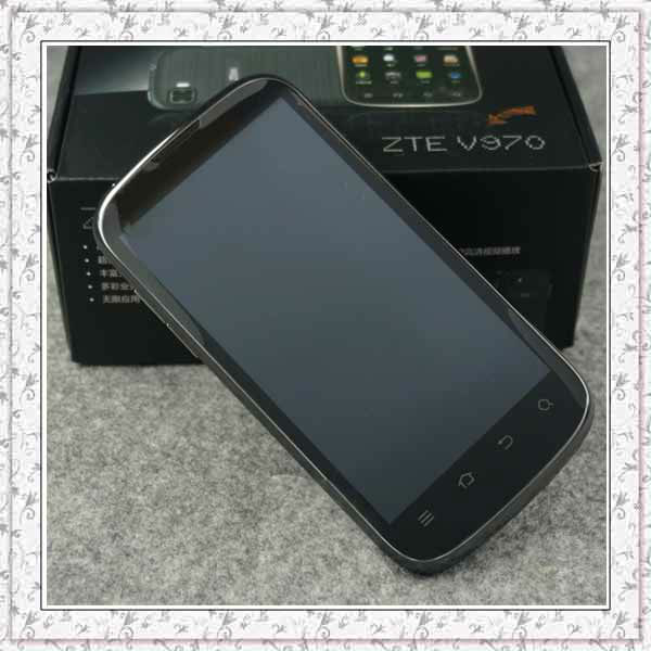 Original ZTE V970 MTK6577 Dual Core Russian 4.3inch Mobile IPS QHD 960*540 Android 4.1 multil languages