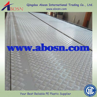 White HDPE roadmat, ground protection mat, temporary roadways pad