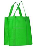 New item green non woven carry bags for garment gift