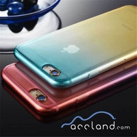 New 2 Colour Gradient Gel Tpu Color Changing 3D Tpu Phone Case Silicone Phone Case For iPhone 6 5 5S