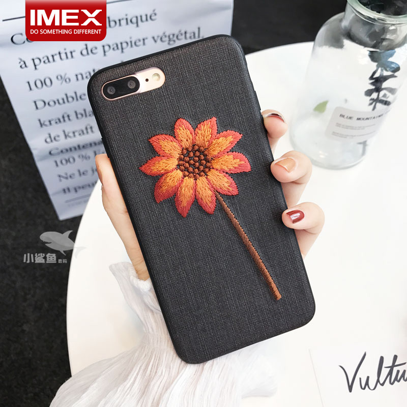 embroidery phone case for iPhone X Embroidery Leather Durable mobile phone case for iphone 10
