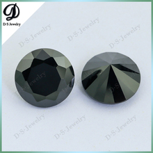 HTHP aaaaa round shape synthetic black diamond for rings