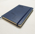 A5/A6 High quality thermo PU leather diary with paper pocket and elastic band