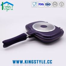 Electric stone double frying pan