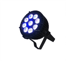 waterproof outdoor led stage light 9pcs 15w flat LED PAR Can RGBWA UV 6IN1