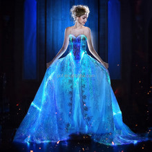 luminous fiber optic light up light emitting illuminated clothing dress outfits for special events safety vest ball gown costume