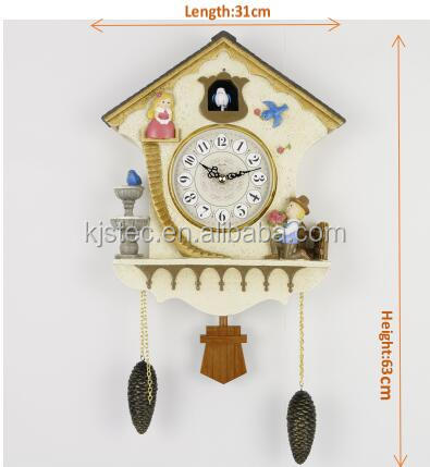 polyresin frame singing bird clock Cuckoo Clocks