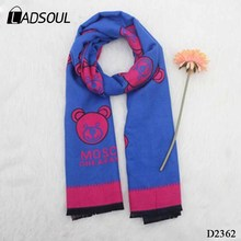 2017 Hot Sale Autumn and Winter New Ladies European and American Double-sided Cashmere Beard Printed Scarf