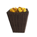 Store storage eco-friendly rattan plastic stackable rack kitchen basket
