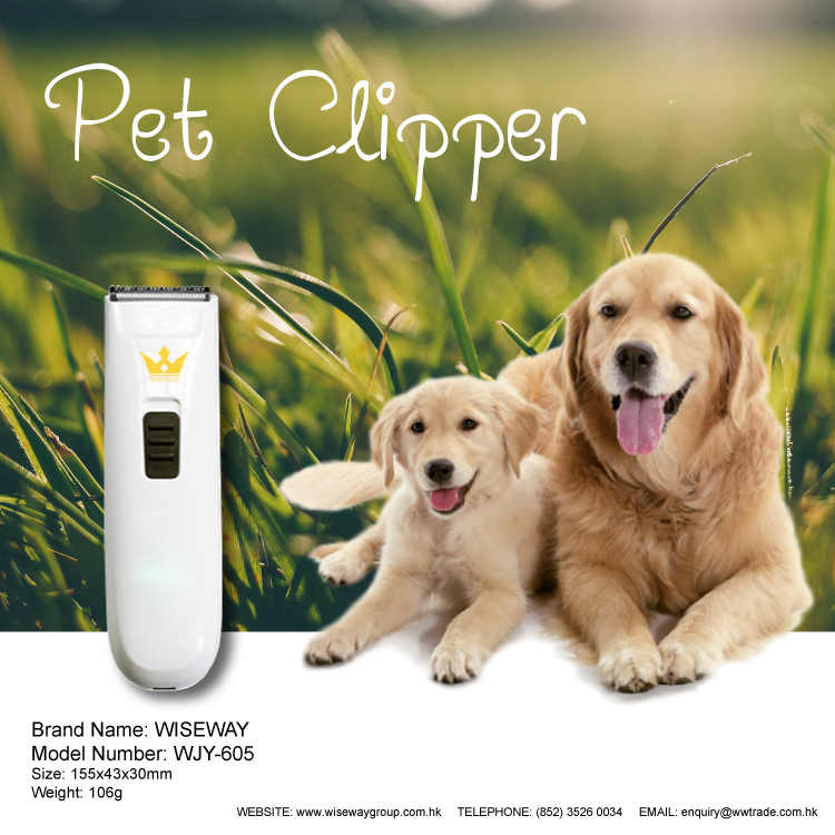 Electric Pet hair Clipper grooming tool with USB charging pot