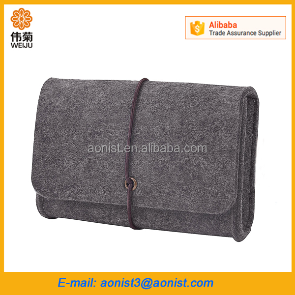 Travel Portable roll up functional computer Accessories rolling tools bag for men