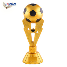 2018 world cup gifts electroplate OEM souvenirs sports resin trophies and medals china
