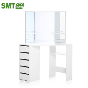 size of simple mirrored white good-quality cheap dressing table designs for bedroom modern with price