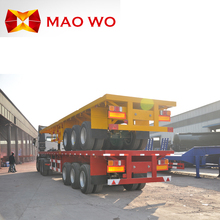 MAOWO manufacturer new FUWA 3 axle heavy duty truck container semi 40ft flatbed trailer