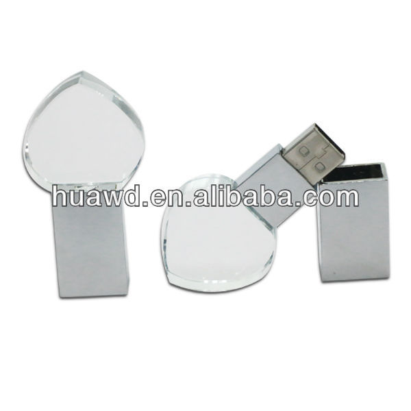 3D Laser New metal/crystal promo usb memory driver