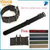 Stock watch strap supply StrapsCo Heavy Duty 5 PVD Ring strap Solid Ballistic Nylon Zulu strap G10 Military Watch Strap Band