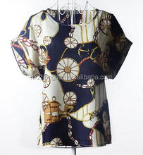 Fashion Factory Directly Provide Chiffon Middle Aged Women Blouse/Indian Style Blouse