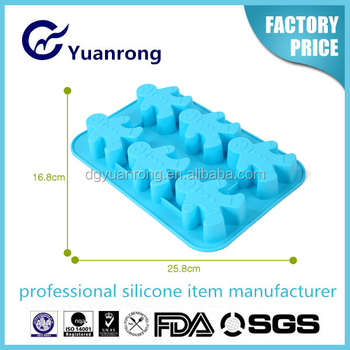 Factory Producing Silicone Ice Cube Tray with Smile Face Shape Ice Maker