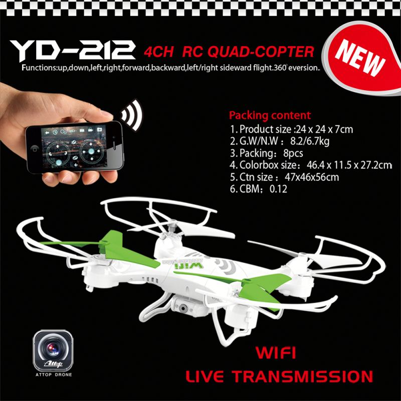 YD-212 Newest Factory Outlet 2.4G 3ch long range rc helicopter