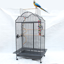 chinese large bird cage for sale top open Macaw cage with wheels B28