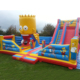 Guangzhou cheap commercial jumping castles outdoor inflatable bouncer slide for sale