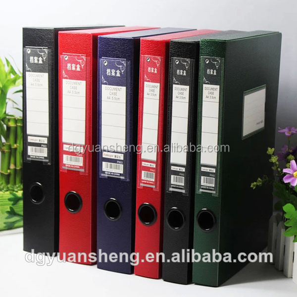 stationery wholesale office box files hot sale in Dongguan