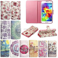 Card Slot For Samsung Galaxy Flip Stand Wallet Case Cover Floral Leather Printed