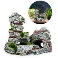 Mountain View Aquarium Rock Cave Tree Bridge Fish Tank Ornament Decoration Decor -Y102