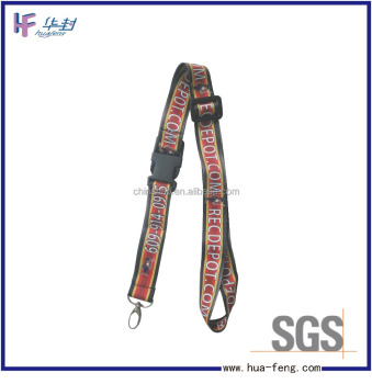 Adjustable length lanyard
