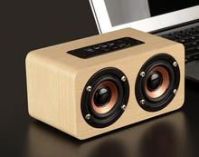 2017 Loudly Sound Home Music Portable Wooden Case Wireless Speaker with Bluetooth W5